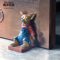 Chihuahua Door Block Door blocking collision free punching floor decorations Creative cartoon Resin Crafts book book by
