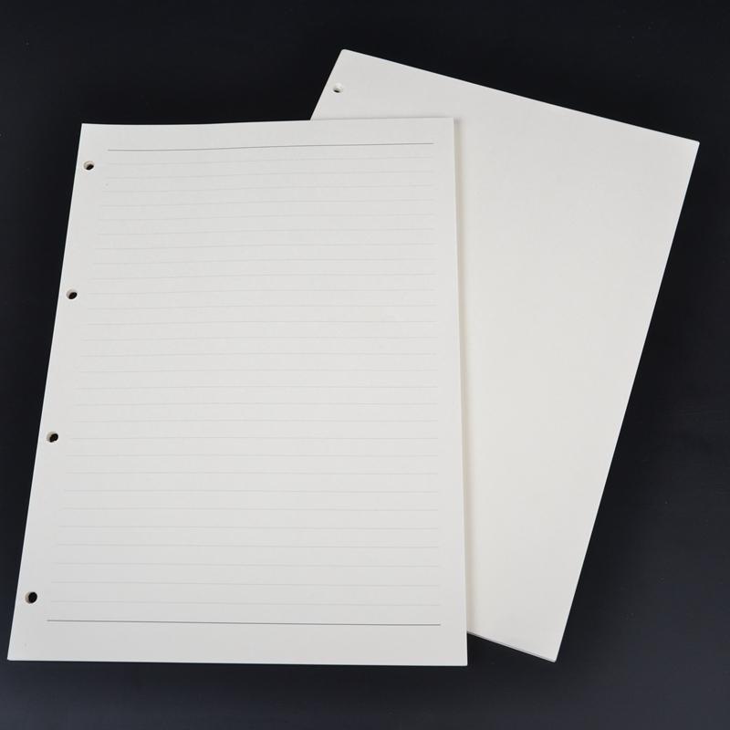 A4活页本替芯 活页记事本内页纸张 4孔笔记本内芯 空白横线替换芯