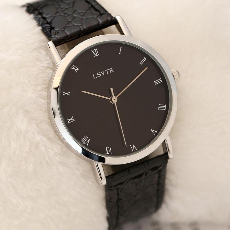 韩国手表男女学生韩版简约防水超薄男女表皮带石英表情侣手表一对