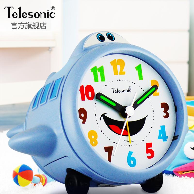 TELESONIC/ король звезда будильник ребенок немой прикроватный электронный будильник спальня серебристые творческий студент шумный стол