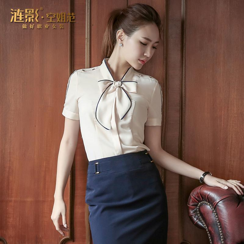 职业装女装套裙夏装正装工作服OL空姐气质衬衫职业套装女夏季工装