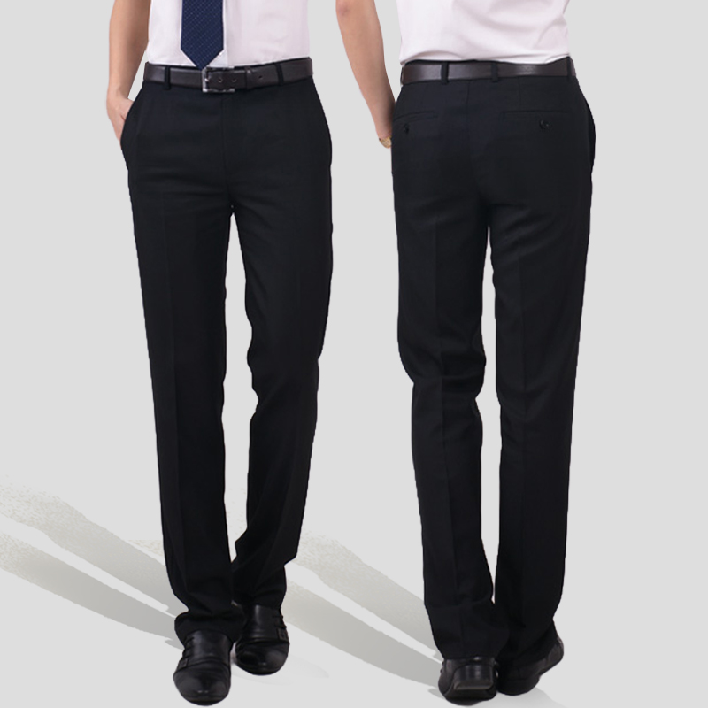 Summer thin mens hotel company office work professional work suit business slim suit black pants