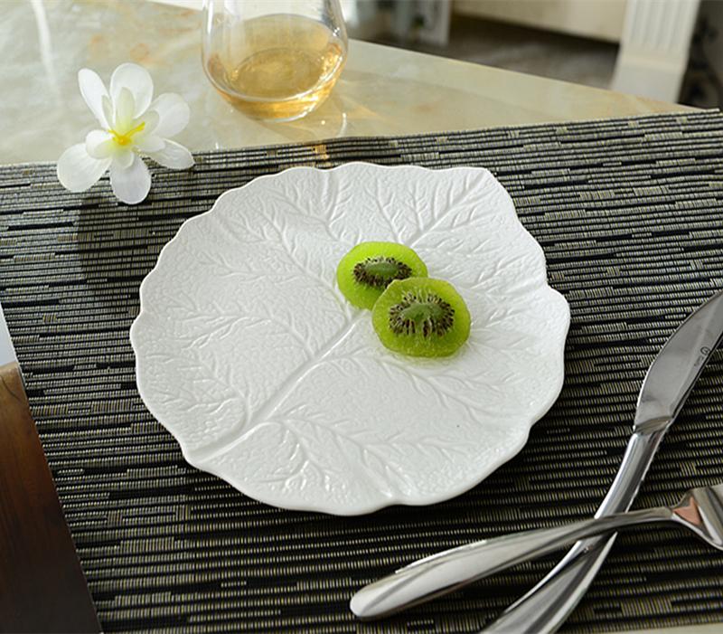 Керамический фарфор западные стейк блюд паста плита плоский рельеф странной формы торт торт пластины десерт пластины