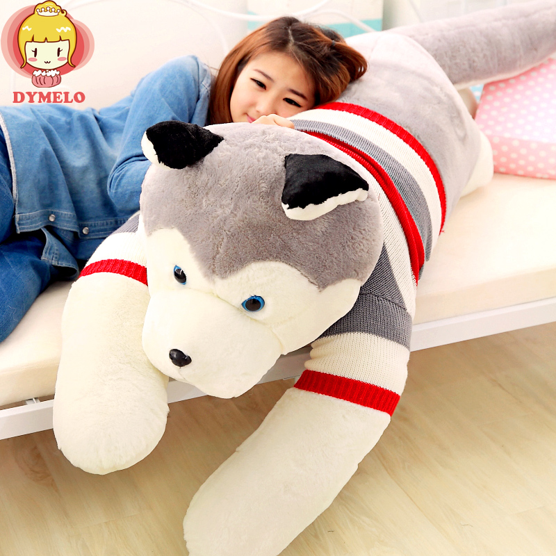 Husky dog doll plush toy dog doll doll pillow lying prone children  women to send birthday gift to friends