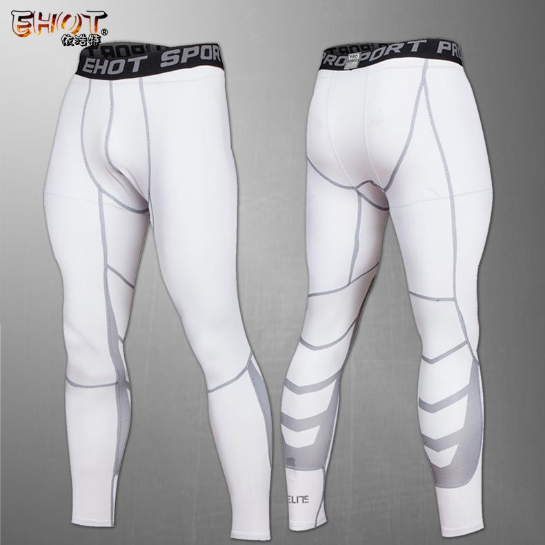 秋冬跑步骑行运动健身紧身长裤男elite精英篮球训练透气网孔9分裤