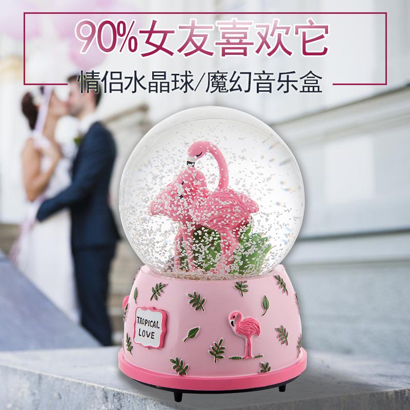 Кристалл мяч музыкальная шкатулка шанхай, пекин, тяньцзинь свет снежинка музыкальная шкатулка творческий день рождения подарок женщина сырье подруга полный промышленность подарок