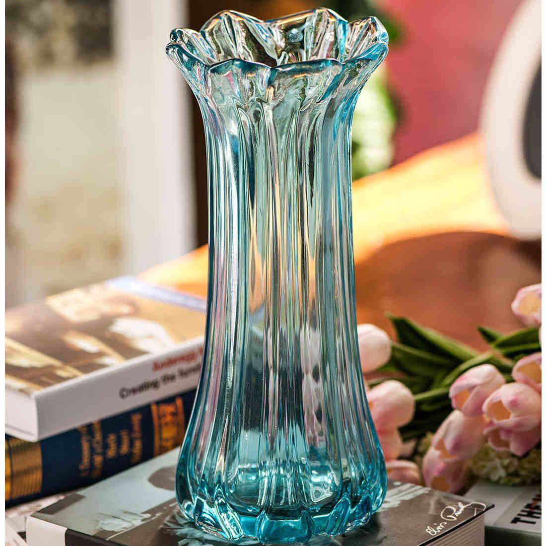 歐式 水培富貴竹透明玻璃花瓶落地客廳餐桌小花瓶 家居擺件