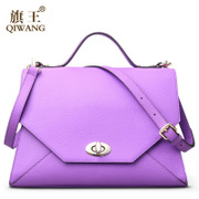 Qi Wang fall/winter bag 2015 female baodan shoulder bag leather leather bag fashion envelope bags women bags
