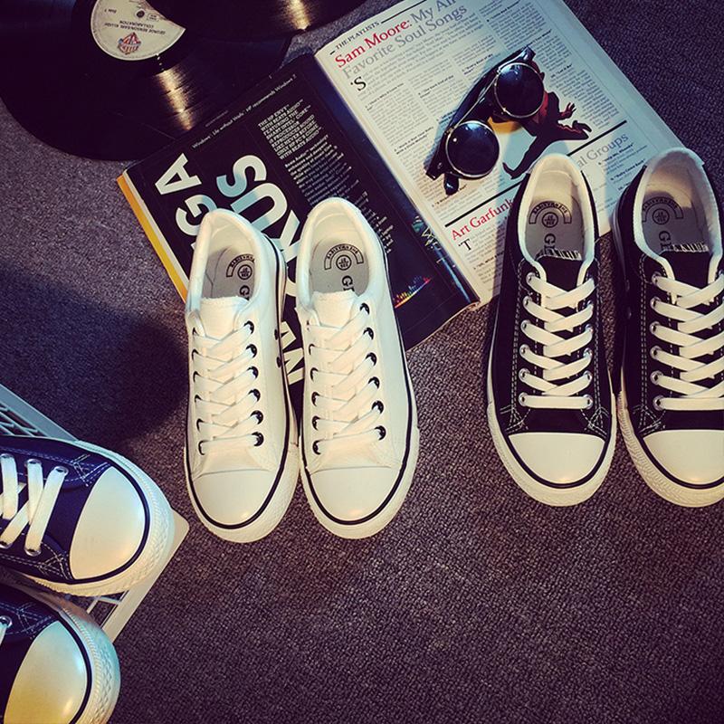 申马夏季百搭帆布鞋女小白鞋