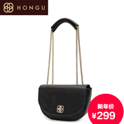 Honggu Hong Gu counters authentic sweet candy-colored leather ladies fashion leisure single shoulder chain handbag 5403