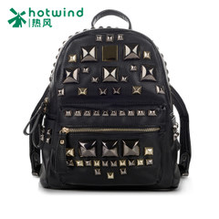 Hot new handbags, Japan and South Korea rivets bags student backpacks backpack solid color woman 5002H5503