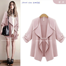 Xinda code of 2015 autumn winters coat female Europe and the United States model of cultivate one's morality show thin long sleeve coat thin cardigan is prevented bask in unlined upper garment