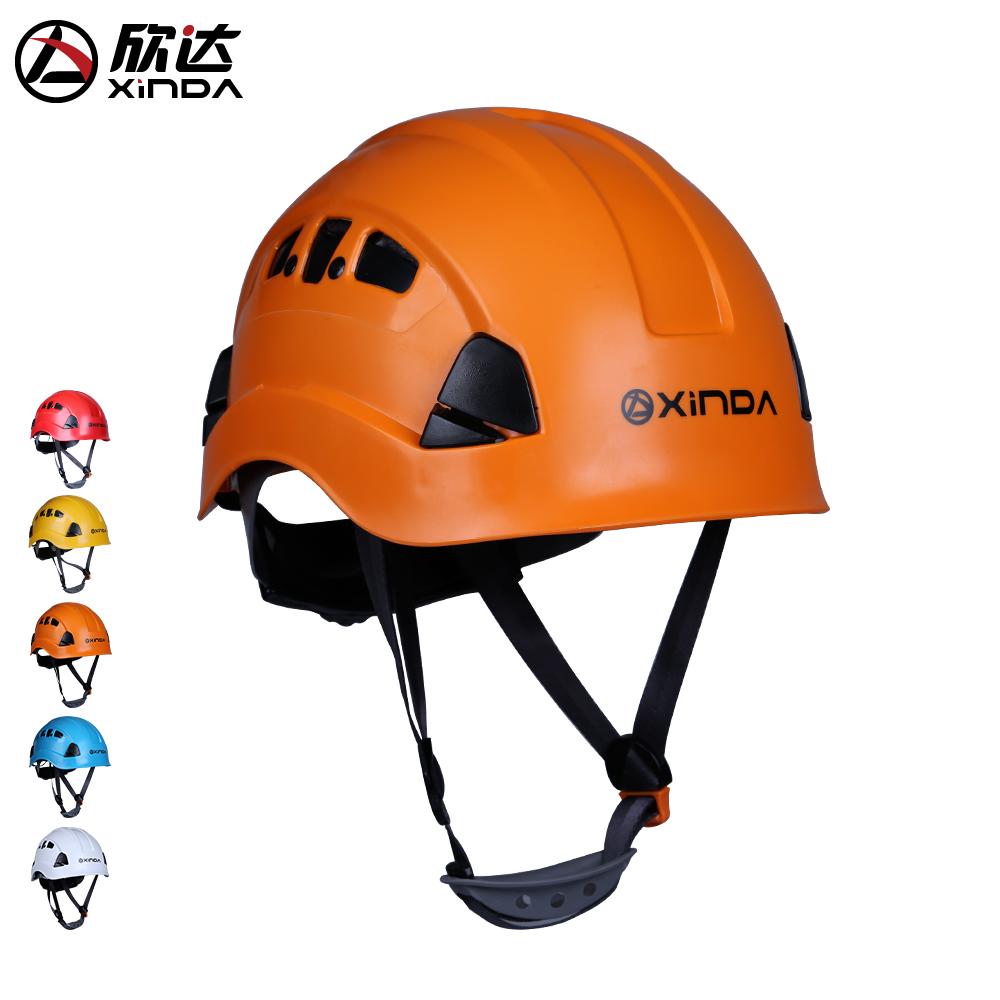 Промышленный защитный шлем Xinda высокая Открытый спасательный шлем для наружного применения полностью цоколь