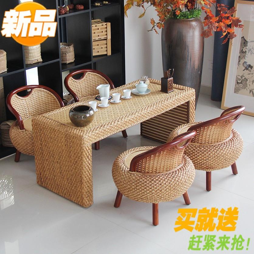 Ротанг кофейный столик чайный стол балкон столы и стулья сочетание современный простой виноградная лоза мебель земля тайвань татами напиток чайный стол сын новый
