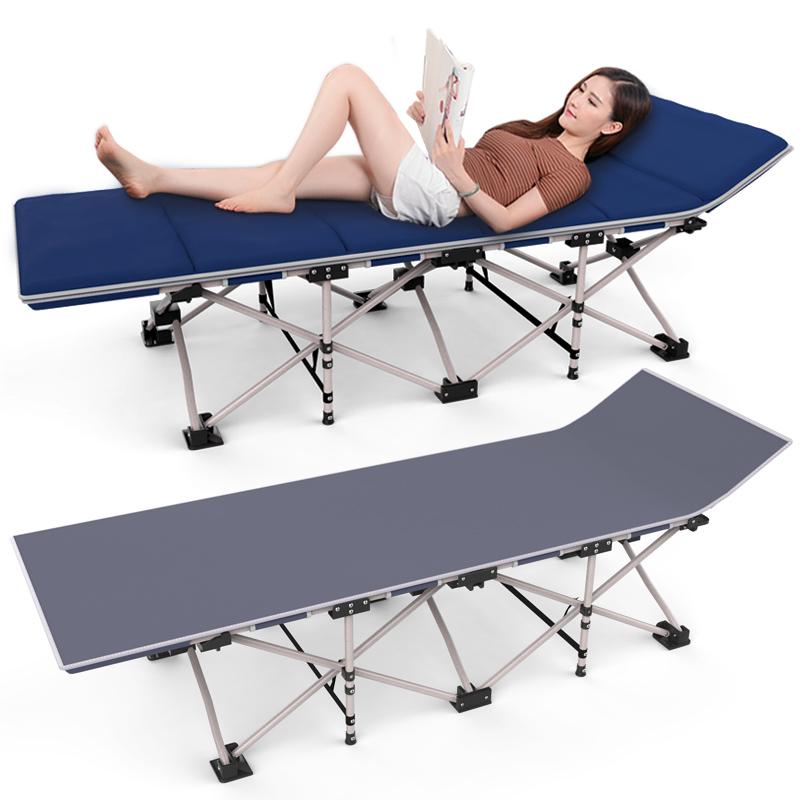 升哥辦公室躺椅戶外簡易醫院陪護單人折疊床午睡床午休沙灘行軍床