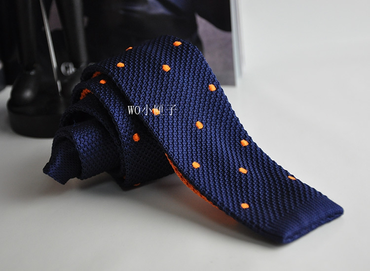 Foreign trade original single knitted tie mens business casual formal wedding orange knitted tie groom embroidery