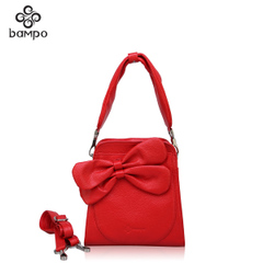 Bampo Banpo genuine leather women bag counter new sweet ladies leather handbag slung shoulder bag