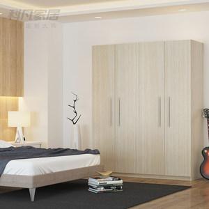 科凡卧室简约整体收纳大衣橱 现代板式四门平开门定制衣柜CP001