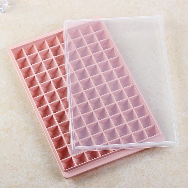 韵迪 96格带盖冰格家用钻石形冰格制冰盒冰模冰块盒制冰块模具