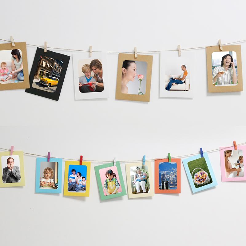 Фото подвеска фото стена комната с несколькими кроватями декоративный фоторамка творческий стена пеньковая веревка клип современный простой никаких следов гвоздь ретро