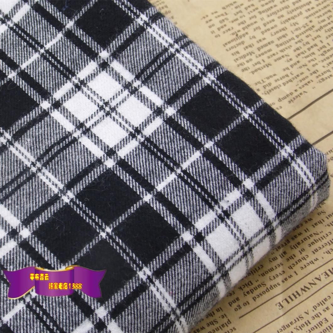 黒と白のイギリスの学院の風格の子のすり毛の生地のシャツのスカートの服装の手仕事のDIY生地は大いに売ります。