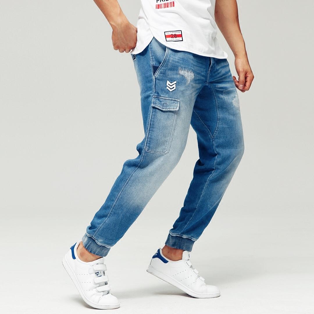 Твердый система Selfimprove движение красный довольно серия вязание тонкий джинсы   сделанный на заказ спортивные версии тип