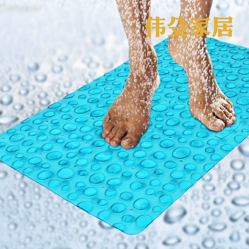 偉殳 浴室防滑墊吸盤按摩衛生間沐浴腳墊PVC淋浴洗澡衛浴地墊