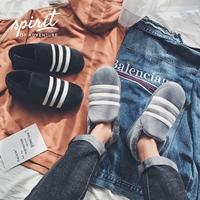冬季男士学生包跟棉拖鞋韩版时尚居家室内套脚棉鞋加绒男女面包鞋