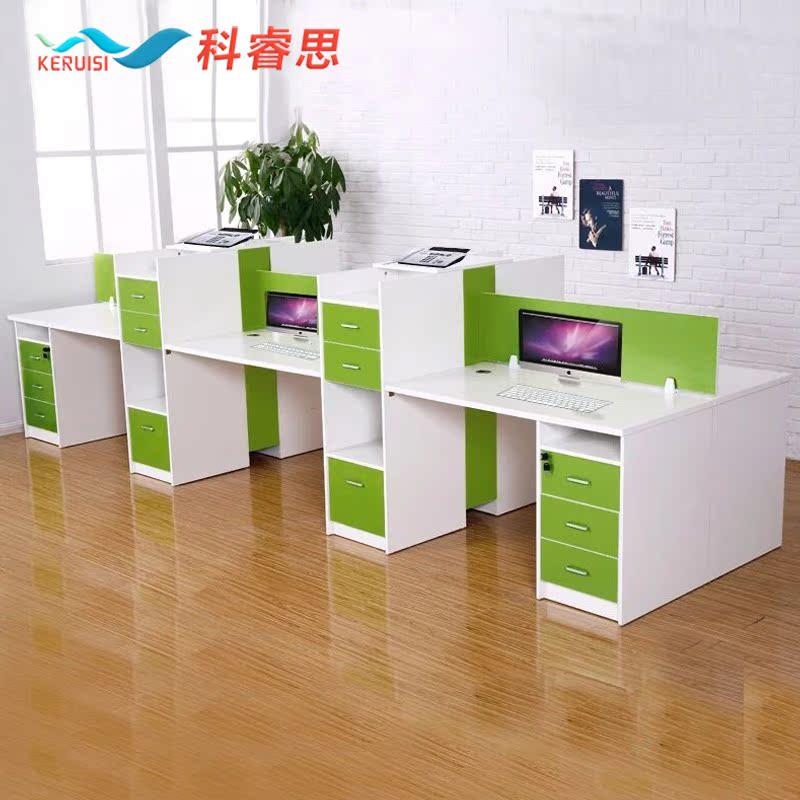 簡約 辦公 辦公桌屏風員工桌2 4 6 人位職員桌椅可定製
