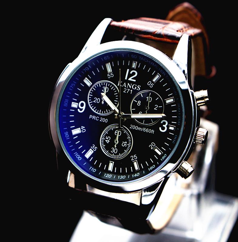 Korean fashion mens sports fashion simple youth watch student waterproof leisure belt non mechanical quartz watch