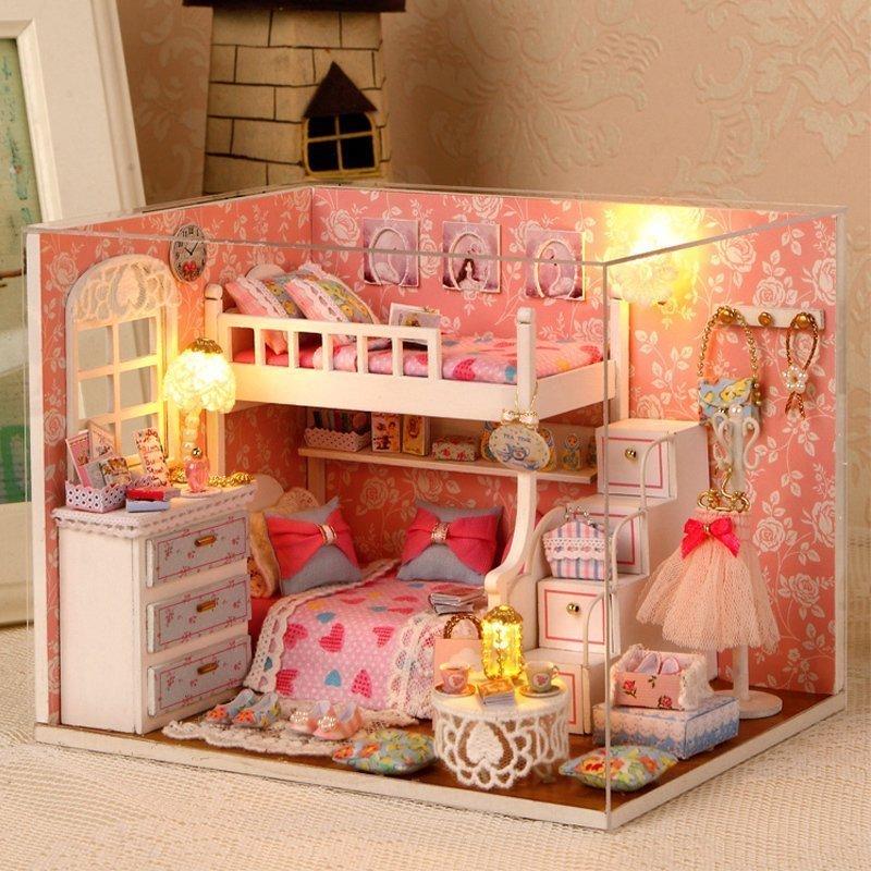 手工diy小屋拼装房子模型别墅女孩创意生日礼物女生儿童公主房