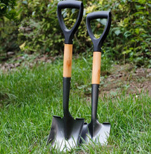 Three piece set of garden art tools with flower planting spade