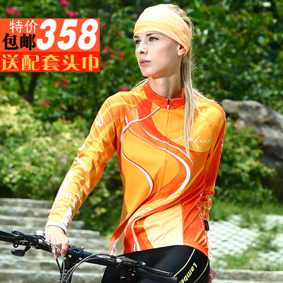 Весна и осень Ламберт женщин длинный рукав Джерси костюмы осень/зима ватки одежды Велоспорт Велоспорт одежда подходит для женщин 020
