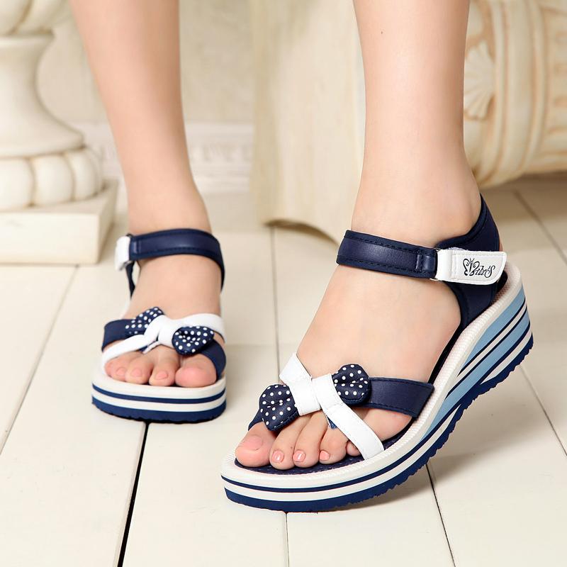 越南平仙鞋女凉坡跟鞋舒适户外防滑耐磨轻便沙滩潮流罗马款式凉鞋