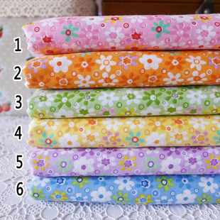 Special cloth plain weave cotton fabric group handmade cotton cloth baby face floral 8 thin 50 150CM