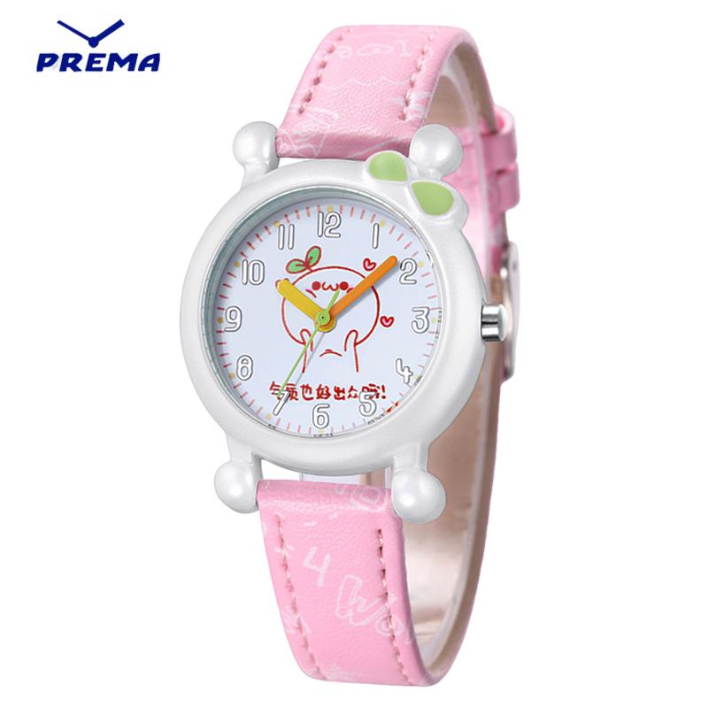 兒童手表女孩男孩 小學生女童可愛小巧防水小孩少女生石英手表