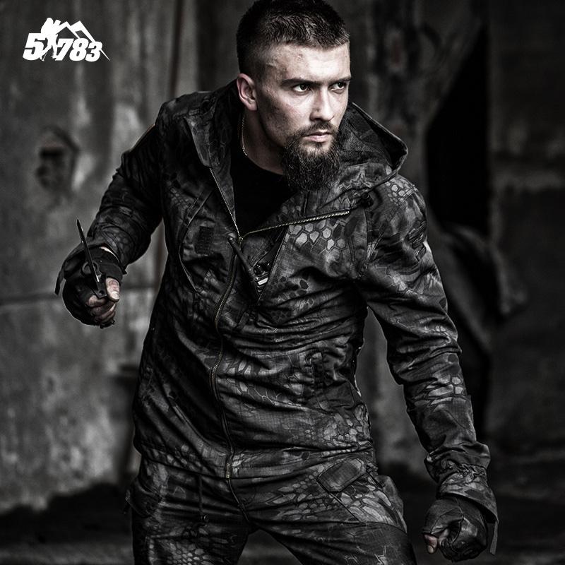 51783 новый погоня охота человек питон камуфляж тактический ветровка армия фанатов на открытом воздухе ложный установлены пальто специальный тип солдаты мужчина пальто
