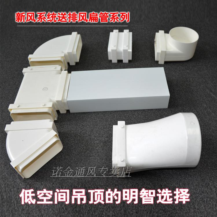 新风系统圆管变方管接头/顶送风/通风接头抽风ABS扁管