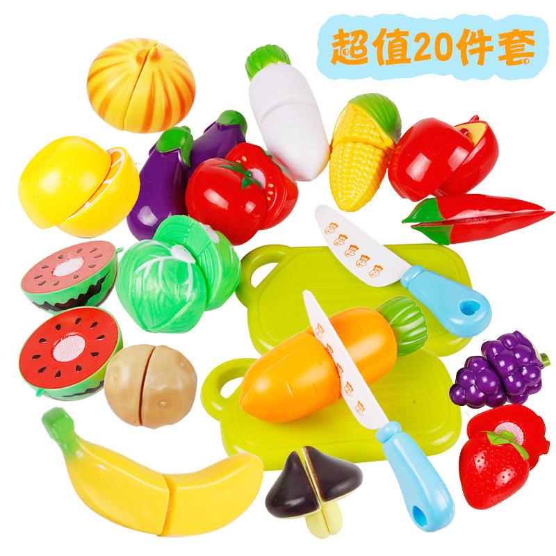 Нарезанных фруктов овощей игрушки живут Le живой ребенок ребенок играть кухня игрушка набор