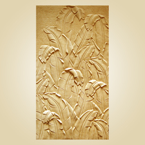 Artificial sandstone background wall decoration culture stone wall hanging Relief stereoscopic custom sandstone new banana leaf wall decoration