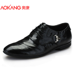 Aucom men's shoes men's UK business fell grain leather wear dress shoes men's shoes