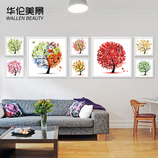 Mural paintings framed decorative painting the living room sofa backdrop Restaurant bedroom modern minimalist art painting happiness