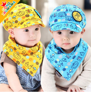 Фрукты полная печать шапка шапки новорожденных ребенка спать Кап, посреди садов в Осенние детские шапки для мальчиков