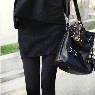 韩版女装秋冬裙半身裙毛线裙包裙裹裙包臀裙短裙子针织一步裙大码券后28.90元