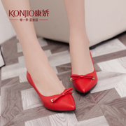 Kang Jiao new shoes spring point light with married women shoes-red stiletto shoe Korean sweet