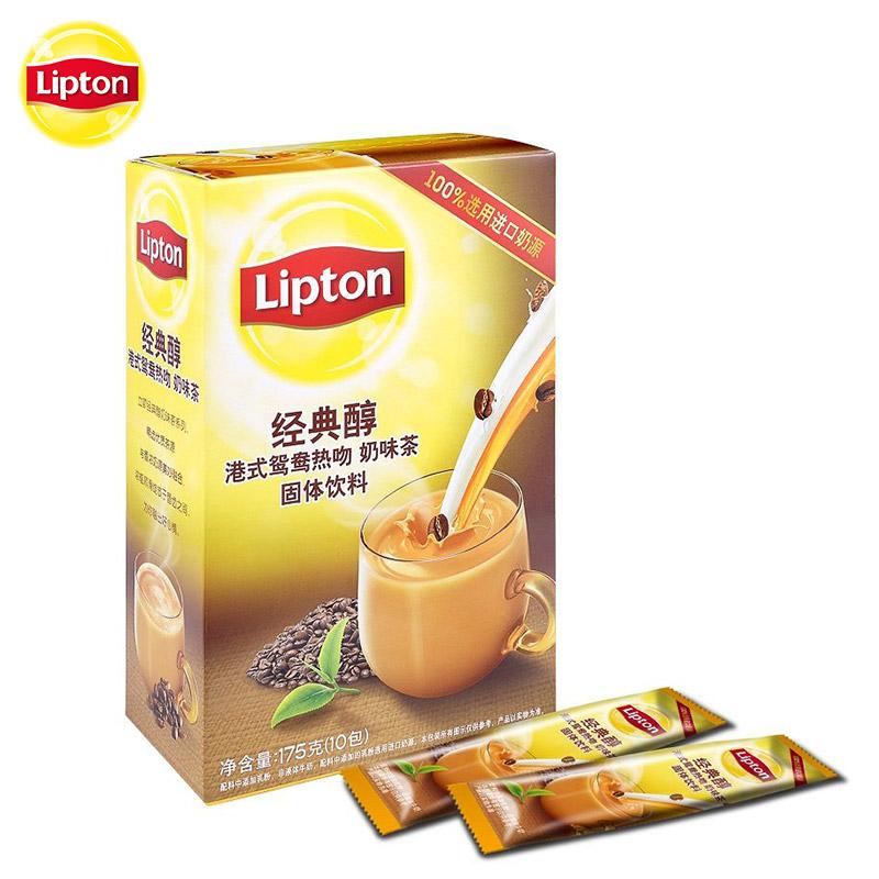 ~天貓超市~立頓 Lipton 醇港式鴛鴦熱吻奶茶速溶裝10包 盒
