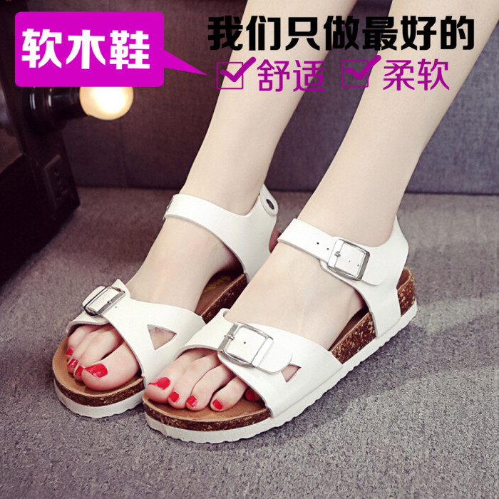 2020 package post Korean version cork slippers women summer fashion sandals men and women lovers beach shoes flat sandals Korean version