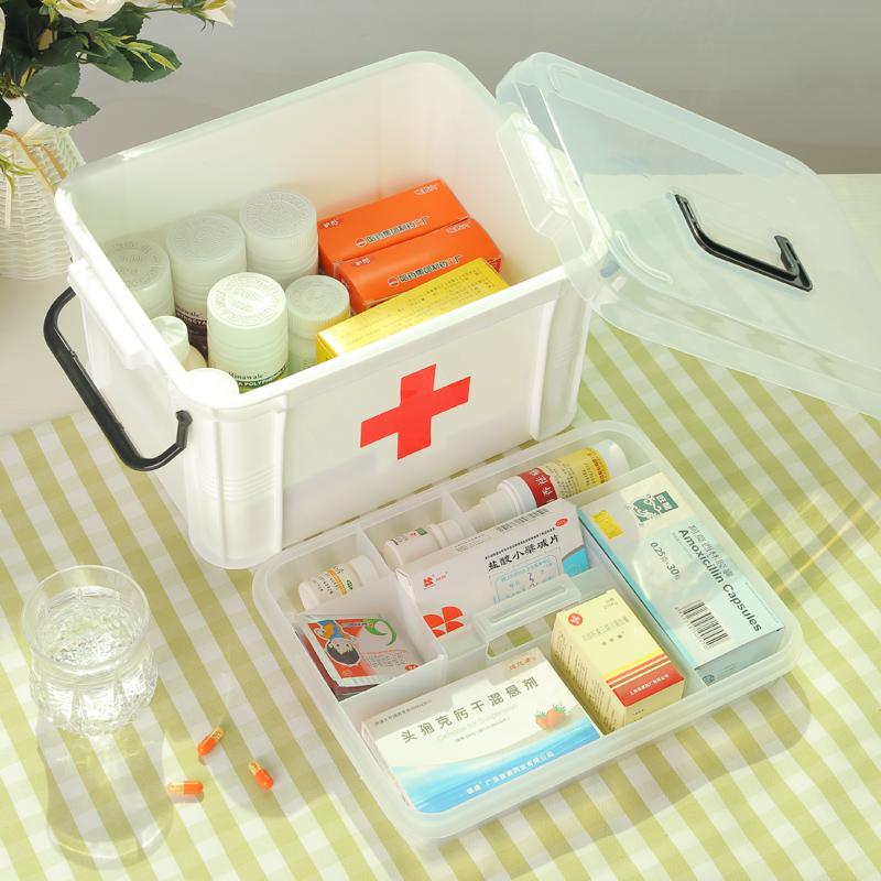 藥箱家庭用特大號醫藥箱多層急救收納盒醫用藥品箱子家用塑料小號