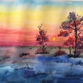 代畫水彩水粉風景靜物色馬克筆畫素描頭像速寫專業定制代畫