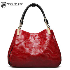 Jules genuine crocodile pattern leather handbags new fashion shoulder bag business in Europe and America women's handbags